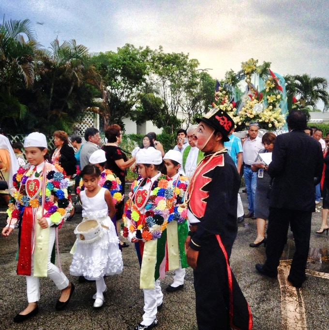 Traditional celebration from Cocora people (Ayacucho, Peru) in South Florida