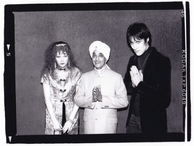 Korla with Poison Ivy and Lux Interior of the Cramps. Photo courtesy Jeff Bacchus.