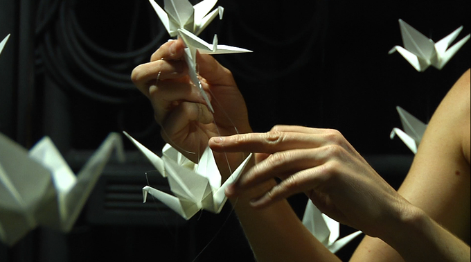 Origami Cranes in Foreign Puzzle by Designer Ia Ensterä