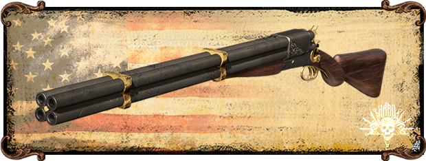Quadruple-barreled shotgun, a well known old west classic.