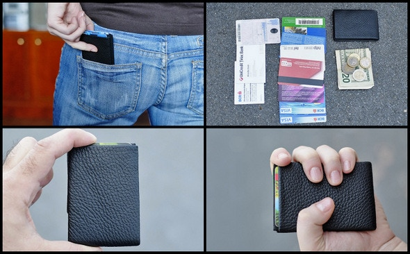 NERO wallet with 8 credit cards  + 1 ID card + 2 business cards + 2  x $20 bills + 5 coins
