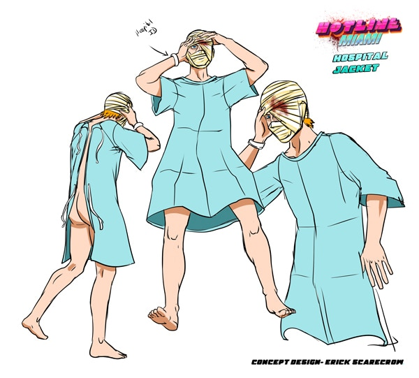 Jacket Hospital gown outfit concept