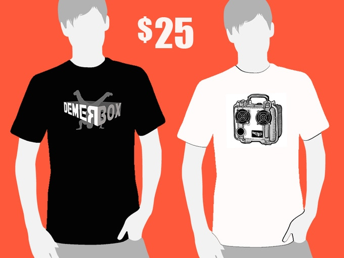 Choose from Break Dance or DemerBox T-shirt