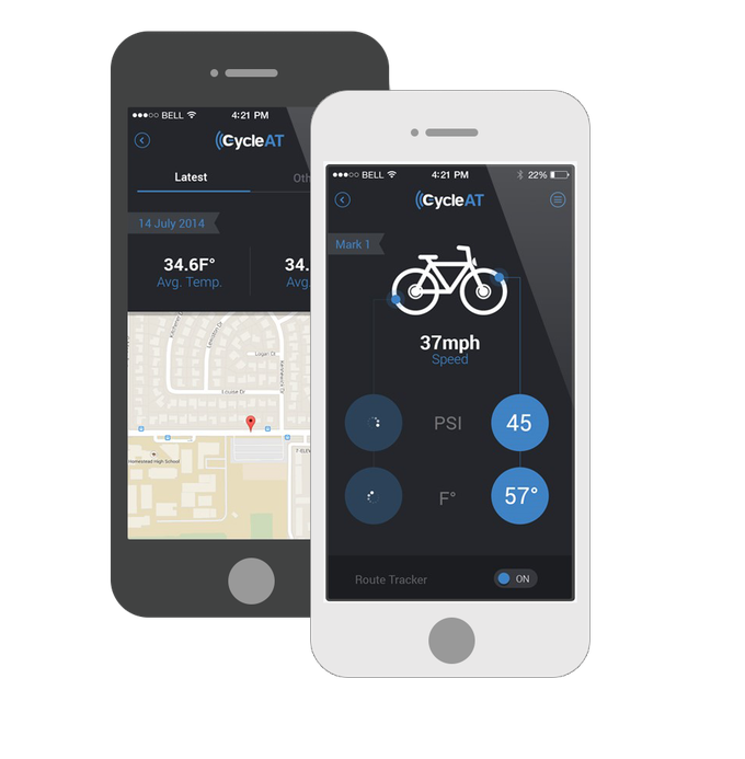 CycleAT smartphone app