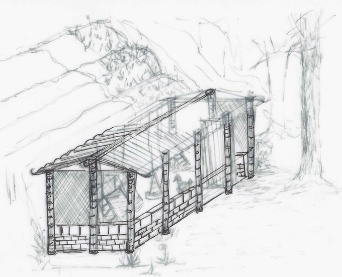This is a local artist's impression of the finished build.