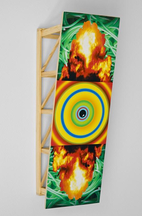 """Elevator, wood & digital print, 2014. 12"""" x 4"""" x 4.5"""""""