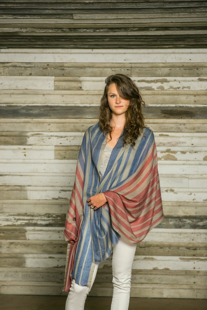 Kicking things off with the Patriot shawl.