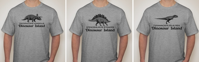 Look at these great T-shirts that all the cool paleontologists will be wearing this year!