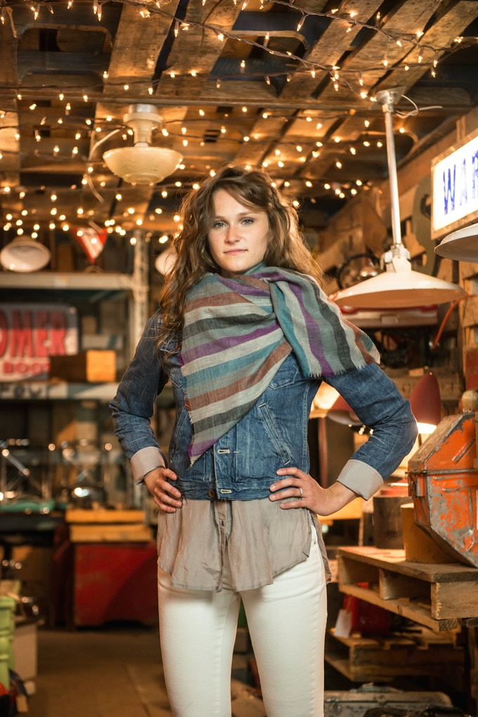 Our Candy Stripe line of shawls!