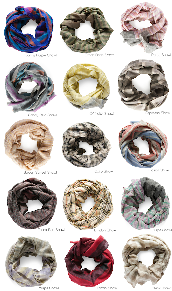 Patterned Shawl Options