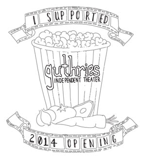 """I Supported Guthries Independent Theater"" limited edition T-shirt sketch"