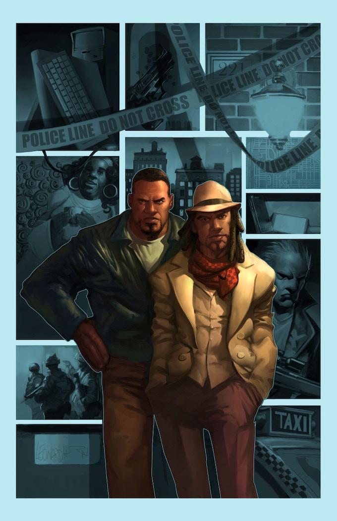 Watson and Holmes V1 trade cover art - Ryan Wardlow paint over RIck Leonardi Pencils