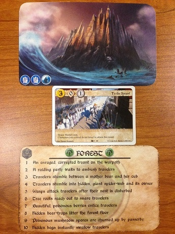Cards are 2.5 times bigger than a standard card (prototypes shown)