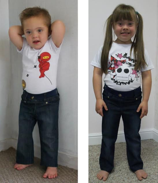 Danny and Jessica smiling from ear to ear in their Downs Designs jeans!