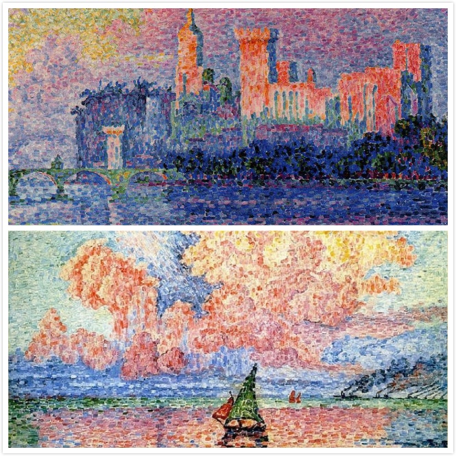 We drew inspiration from impressionist paintings.