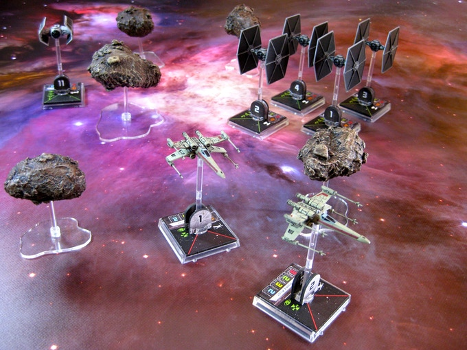 XL Asteroids with Multicolour Nebula Mat