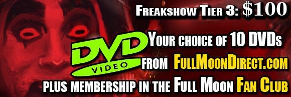 FREAKSHOW Tier 3: Killjoy Psycho Circus Kickstarter $100