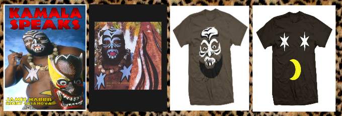 """Kamala Speaks"" Book, Music CD, Face Shirt or Belly Shirt by ProWrestlingTees.com,"