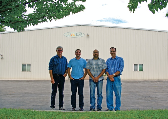 The Luminar Products Team in front of our Building