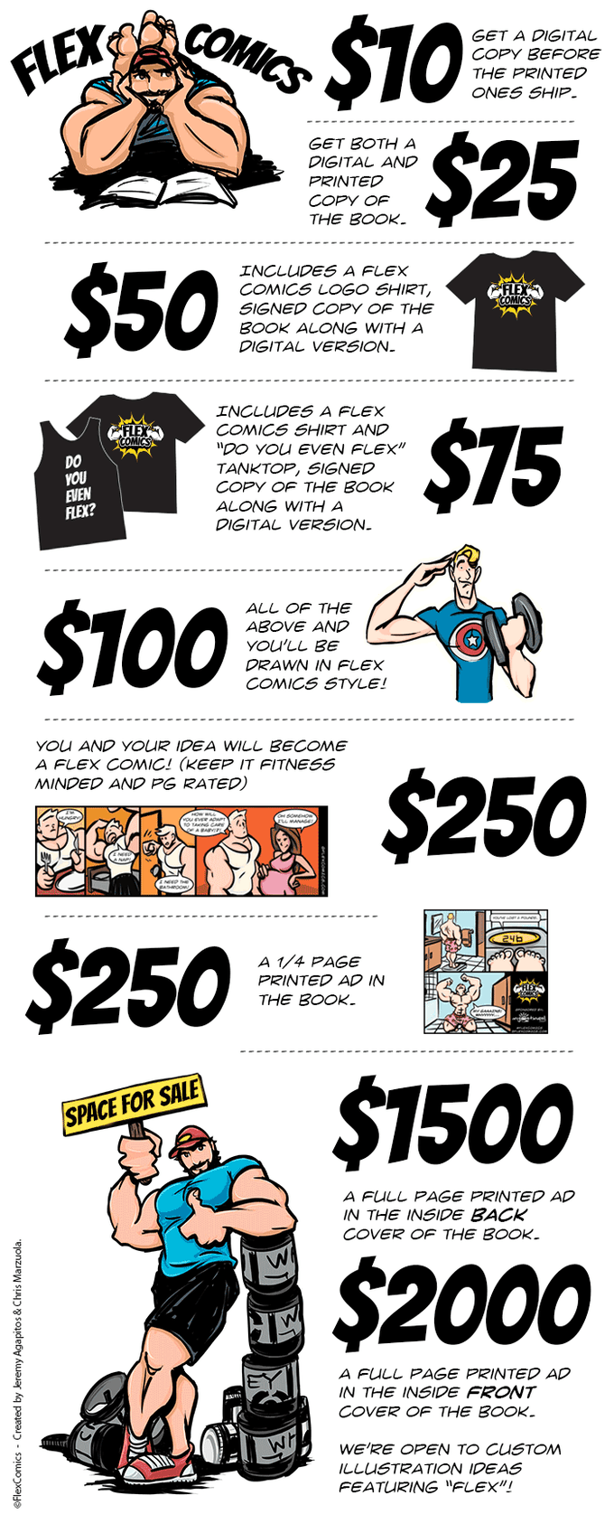 Flex Comics: Do You Even Flex? Kickstarter Book