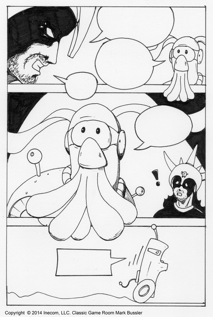 Rough artwork from the upcoming Wind Squid #0 comic book by Mark Bussler (dialog not included because I don't want to give away any Lord Karnage Book 1 spoilers!)