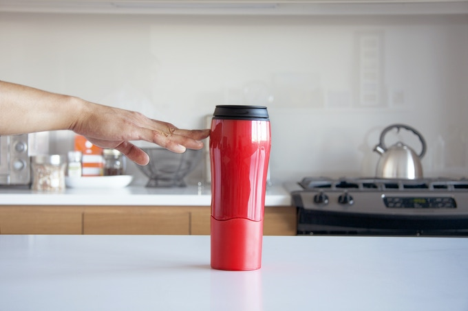 Mighty Mug Go - Plastic Available in Red or Black