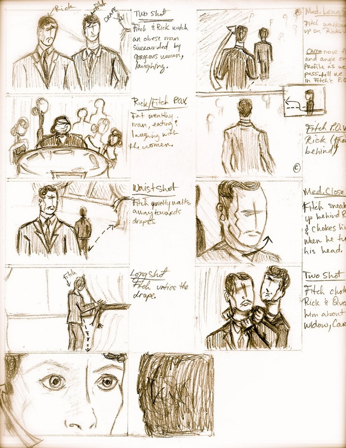 storyboards by Enjoli