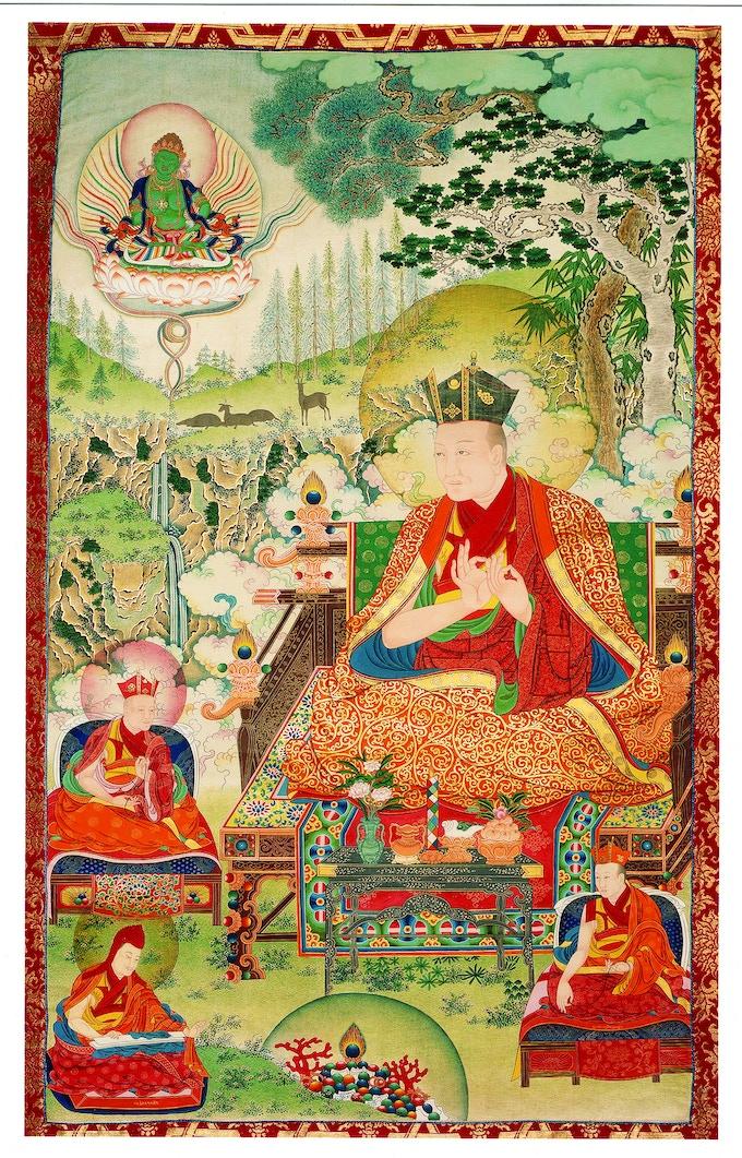 A thangka of Choying Dorje, the 10th Karmapa, who was himself a brilliant artist.