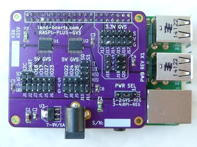 GVS Board for the Raspberry Pi Model B+