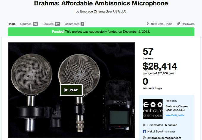 Brahma Kickstarter Campaign
