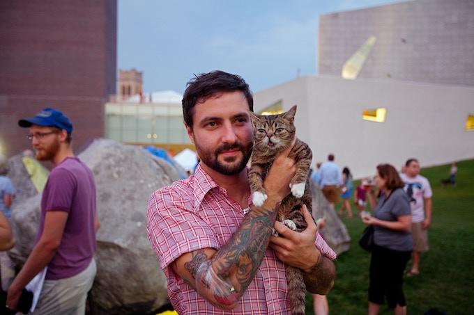 Photo by Gene Pittman, Courtesy Walker Art Center. Lil BUB at the Internet Cat Video Festival, 2012.