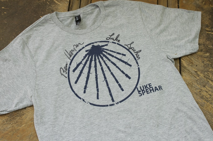 T-shirt signed by Luke Spehar and Ben Harper. NOTE: Only medium and large sizes remaining.