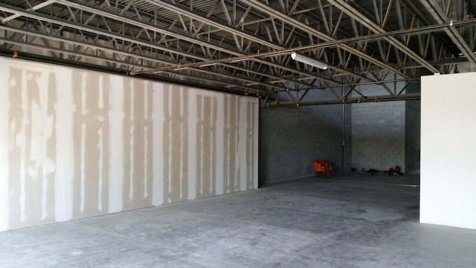 The brewery & taproom is a work in progress.