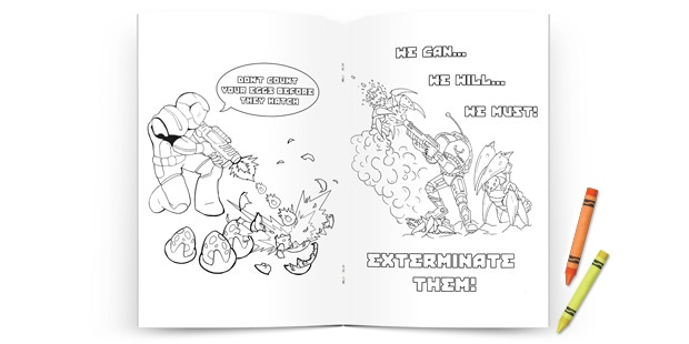 Coloring book from the $80 Propaganda Pack Tier