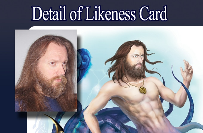 This pic shows a comparison between the original photo and the likeness card.