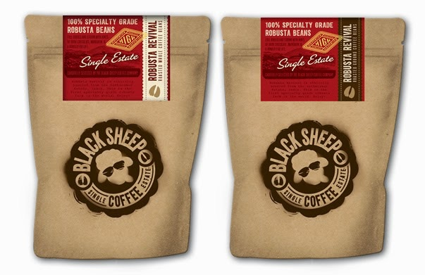 227g bags of Robusta Revival (whole and ground beans)