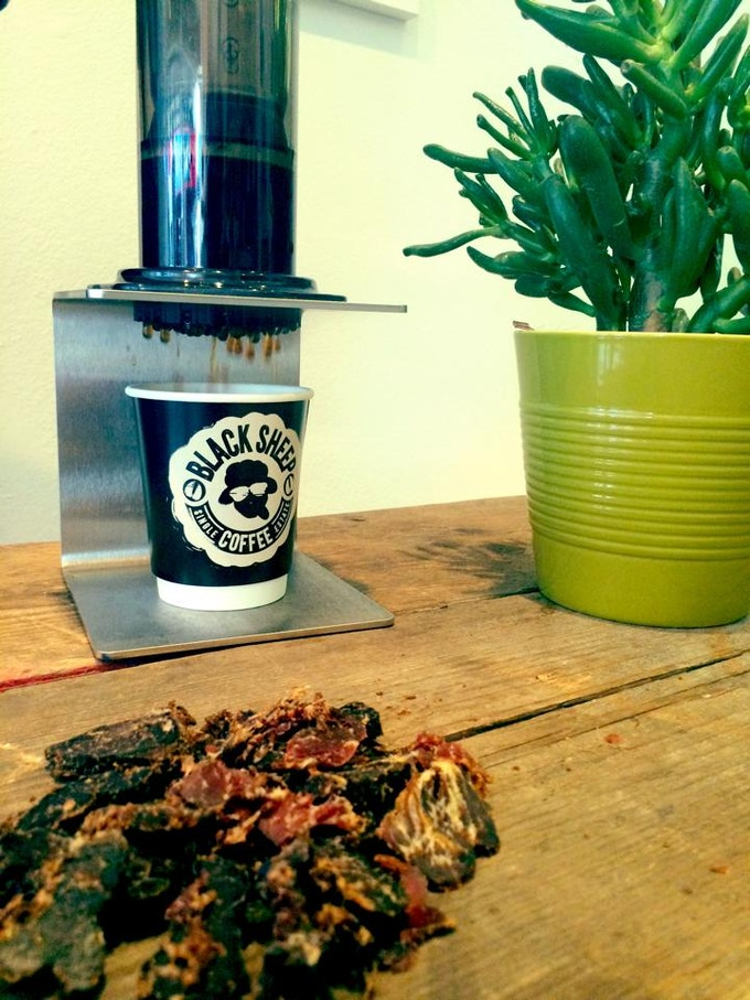 Breakfast for Champions: Robusta Revival aeropress and beef jerky