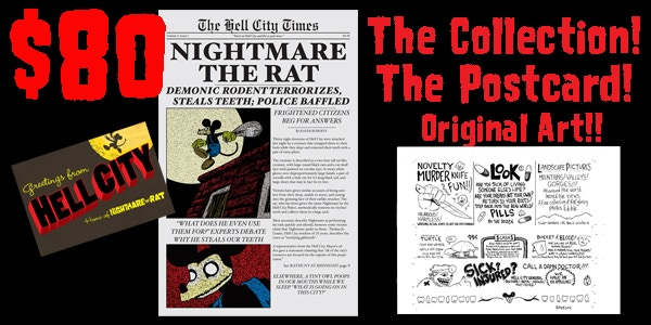 ORIGINAL ART! For $80, you can get the 9x12 sheet where I drew a bunch of the smaller fake ads that will appear throughout the collection.