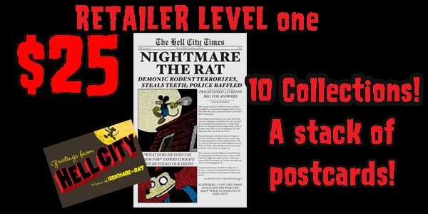 Are you a retailer? For $25 bucks you'll get ten copies of the collection and a stck of postcards.