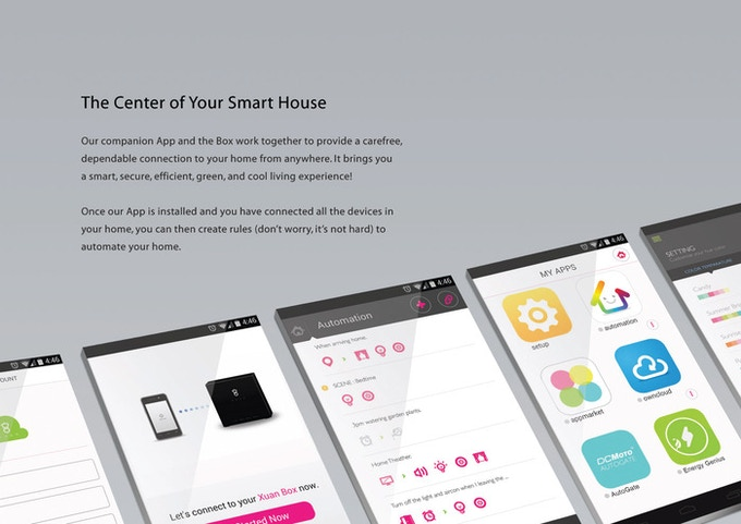 Support all your home devices with one Box and a single APP