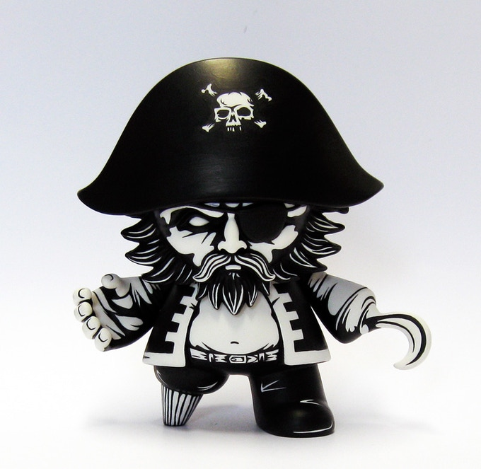 """JPK is best known for his black and white customs and is a fan favourite of many.  He's done quite a bit of work for Kidrobot including his own 8"""" inch Locadonta Dunny in 2013. Visit his website and check out his work at www.jonpaulkaiser.com"""