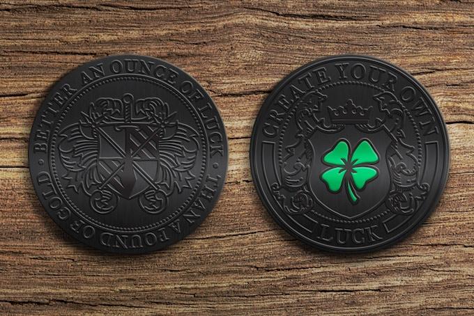 Black Nickel - 2 inch Diameter - 3D Coin