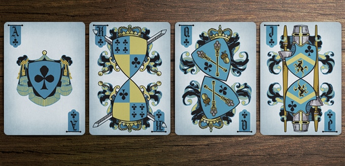 Coat of Arms Deck - Club Court Cards