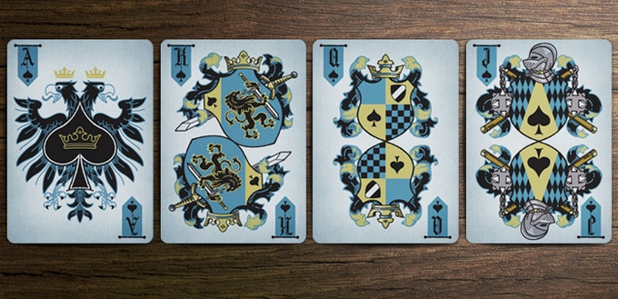 Coat of Arms Deck - Spade Court Cards