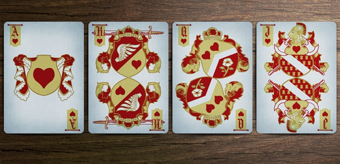Coat of Arms Deck - Heart Court Cards
