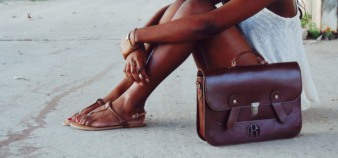 "The 15"" Chestnut-Brown-Colored O'Bazzië Satchel"