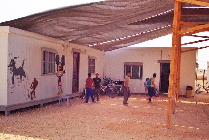 Children playing at Za'atari Camp