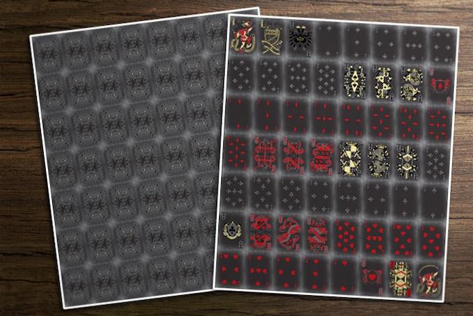 Uncut Sheet - Dark Ages Deck