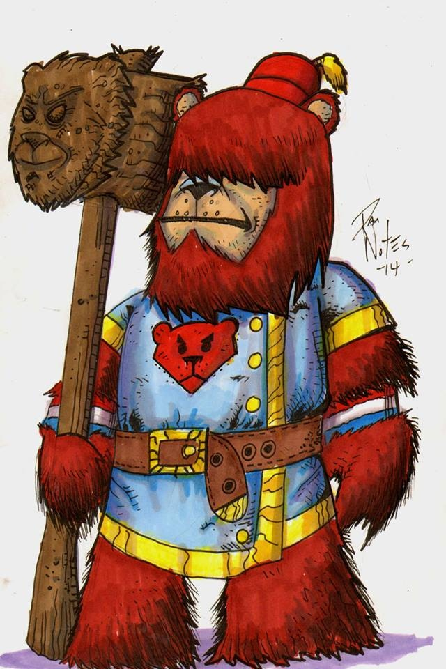 Captain of Tower Guard Olaf. Concept Art by Dan Nokes