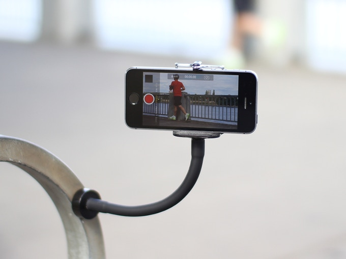 Snap your GripSnap to a bike rack